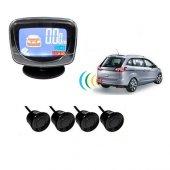 Park Sensörü Renli Ekranlı Ses İkazlı Siyah Sensör...