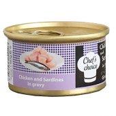 Chefs Choice Tavuklu Sardunyalı Tahılsız Kedi Yaş Mama 80 Gr