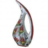 Oğuz Çini Samur Kırmızı Pelikan Vazo