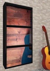 Evbox 3lü Gitar Baskılı Metal Ayakkabılık Fa 052