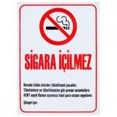Sigara İçmek Yasaktır Pvc Uyarı Levhası İkaz Yönlendirme Levha