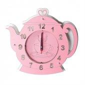 Ahşap Çaydanlık Model Mutfak Saati