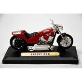 Street Rod 1 18 Model Motorsiklet Kırmızı (Motormax)