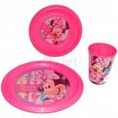 Minnie Mouse Yemek Takımı 3lü Plastik