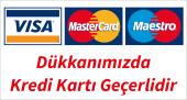 Dükkanımıza Kredi Kartı Geçerlidir Etiketi Yapışkanlı Folyo Baskı