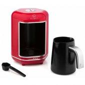 King K605 Kısmet Kırmızı Otomatik Türk Kahve Makinesi