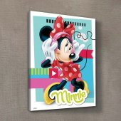 Minnie Mouse Kanvas Tablo 30x40 Cm