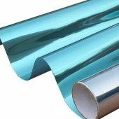 Aynalı Görünüm Mavi Cam Filmi Çizilmez 75 Cm X 100 Cm