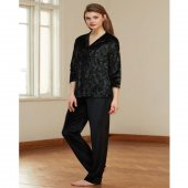 Catherines 1345 Kadın Siyah Pijama Takımı