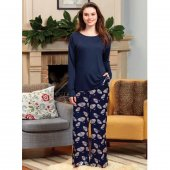 Eros Esk22670 Kadın Lacivert Pijama Takımı
