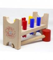 Bemi Toys 0 3 Yaş Oyuncak Ahşap Eğitici Çekiç Oyunu Çak Tak