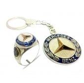 925 Ayar Gümüş Mercedes Benz Erkek Yüzük Ve Anahtarlık
