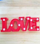 Love Tasarımlı Masa Lambası