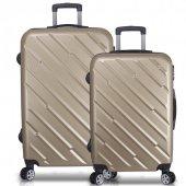 Bavyera Basic Abs Buyuk+orta Boy 2 Li Set Valiz, Seyahat Cantası 9 Renk