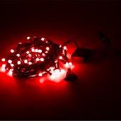 1 Adet Kikajoy Eklemeli Led Işık Kırmızı Renk 10 Mt 80 Ampul