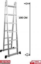 6+6 Basamaklı Alüminyum Katlanabilir Merdiven