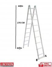 9+9 Basamaklı Alüminyum Katlanabilir Merdiven
