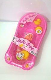 Küvetli Oyuncak Et Bebek 3lü Ördek Banyo Yapan Et Bebek