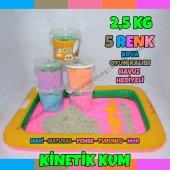 Kinetik Kum Oyun Kumu 2,5 Kg 5 Farklı Renk