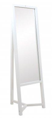 Ayna, Boy Aynası, Ahşap Boy Aynası Beyaz Trz 19