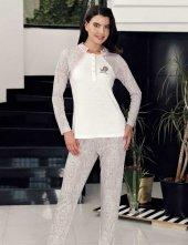 şahinler Pijama Takımı Ekru Mbp23723 1