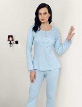 şahinler Dantelli Pijama Takımı Mavi Mbp23701 1
