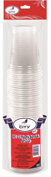 New City Şeffaf Plastik Bardak 50 Li