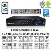 Cbox Cb 6608ahd 8 Kanal 1080 4 Ses Ahd+anlg+ıp Xmeye Hıbrıt Dvr K