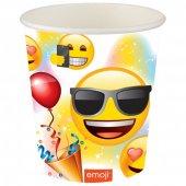 8 Adet Kikajoy Parti Emoji Karton Bardak