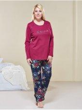Pjs 20506 İnterlok Büyük Beden Bayan Pijama Takımı
