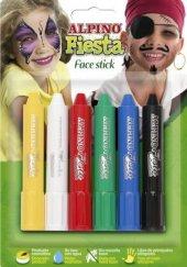 Alpıno Fiesta Face Stick Yüz Boyama Kalemi 6 Kalem Renk