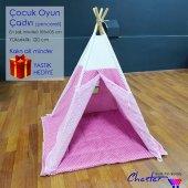 çocuk Oyun Çadırı Dolgu Tabanlı (Pembe)