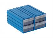 Sembol 300 Plastik Çekmeceli Kutu 11x12,2x5,8 Cm (4 Çekmeceli)