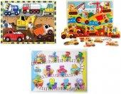 Eğitici Ahşap Tutmalı Araçlar Sayılar 3 İn 1 Seti Çivili Puzzle Okul Öncesi Bultak Puzzle Oyuncak