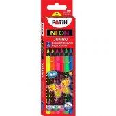 Fatih Neon Jumbo Kuruboya 6 Renk Set Tam Boy Grafit Çapı 5