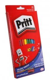 Pritt Jumbo Üçgen Boya Kalemi 12 Renk Set Karton Kutu