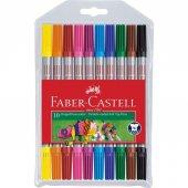 Faber Castell Çift Uçlu Keçeli Kalem Seti 10 Renk
