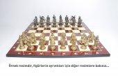 Dev Boy Altın Ve Gümüş Kaplama, Osmanlı Malta Şövalyeleri Metal Satranç Takımı 6 Numara, El Yapımı