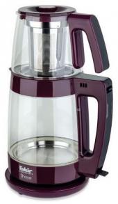 Fakir Shaye Violet Cam Çay Makinesi