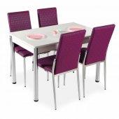 Evform Favorite 4 Kişilik Masa Sandalye Mutfak Masası Takımı Mü