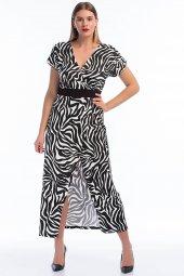 Büyük Beden Zebra Likralı Elbise Pnr8888