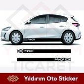Fiat Panda Şerit Oto Sticker Sağ Sol Takım