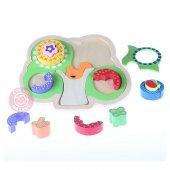 Ahşap Renkli Bulmaca Eğitici Zeka Geliştiren Oyuncak Montessori M