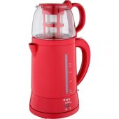 King K 8500 Teamax Demlikli Otomatik Çay Makinesi Kırmızı