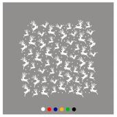 Geyik Yılbaşı Süslemeleri Sticker Yapıştırma 140x120cm