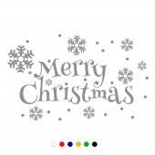 Merry Christmas Kar Taneleri Vitrin Düzenlemesi 10...