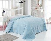 Zirve Home Marbella Çift Kişilik Pike Mavi 200x220