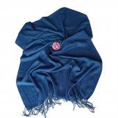 Düz Renkli Pashmina Şal Mavi