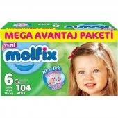 Molfix 3d Ekstra Large 104lü Mega Avantaj Paketi 15 25 Kg 6 Numa