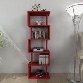 Moonlife Zero Dekoratif Kitaplık Kırmızı